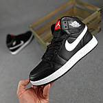 Мужские демисезонные кроссовки Nike Air Jordan (черные на белой) повседневная обувь 10396, фото 3