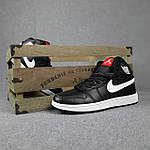 Мужские демисезонные кроссовки Nike Air Jordan (черные на белой) повседневная обувь 10396, фото 7