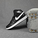 Мужские демисезонные кроссовки Nike Air Jordan (черные на белой) повседневная обувь 10396, фото 6