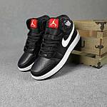 Мужские демисезонные кроссовки Nike Air Jordan (черные на белой) повседневная обувь 10396, фото 5