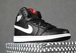Мужские демисезонные кроссовки Nike Air Jordan (черные на белой) повседневная обувь 10396, фото 8