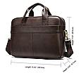 Мужская кожаная сумка портфель для документов Marrant - коричневый, фото 7