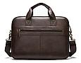 Мужская кожаная сумка портфель для документов Marrant - коричневый, фото 3