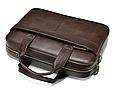 Мужская кожаная сумка портфель для документов Marrant - коричневый, фото 4
