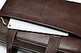 Мужская кожаная сумка портфель для документов Marrant - коричневый, фото 9