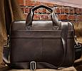 Мужская кожаная сумка портфель для документов Marrant - коричневый, фото 2
