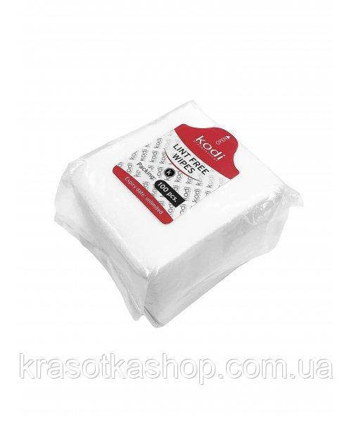 Безворсові серветки Kodi 6*5см Lint Free Wipes, 100шт.
