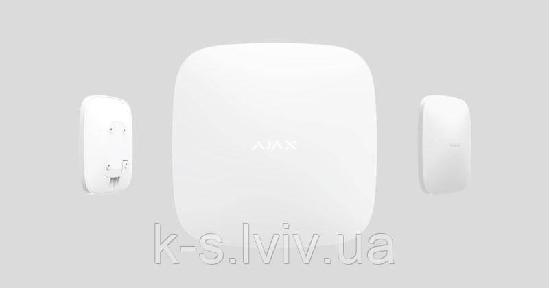 Продвинутая интеллектуальная централь Ajax Hub Plus с поддержкой WiFi, 3G и 2 sim-карт
