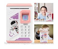 Детская копилка сейф  Robot Bodyguard с отпечатком пальца
