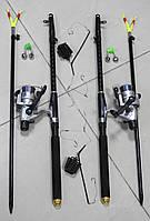 Спиннинги Armor 2,4м с катушками CB640 в Сборе 2шт Универсальный рыболовный набор + ПОДАРОК