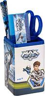 Набор  настольный канцтоваров для школьника Max Steel MX14-214K Макс стил , набор,подстаканник