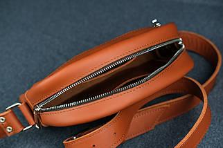 Сумка жіноча. Шкіряна сумочка Віола, Шкіра Grand, колір Коньяк, фото 3