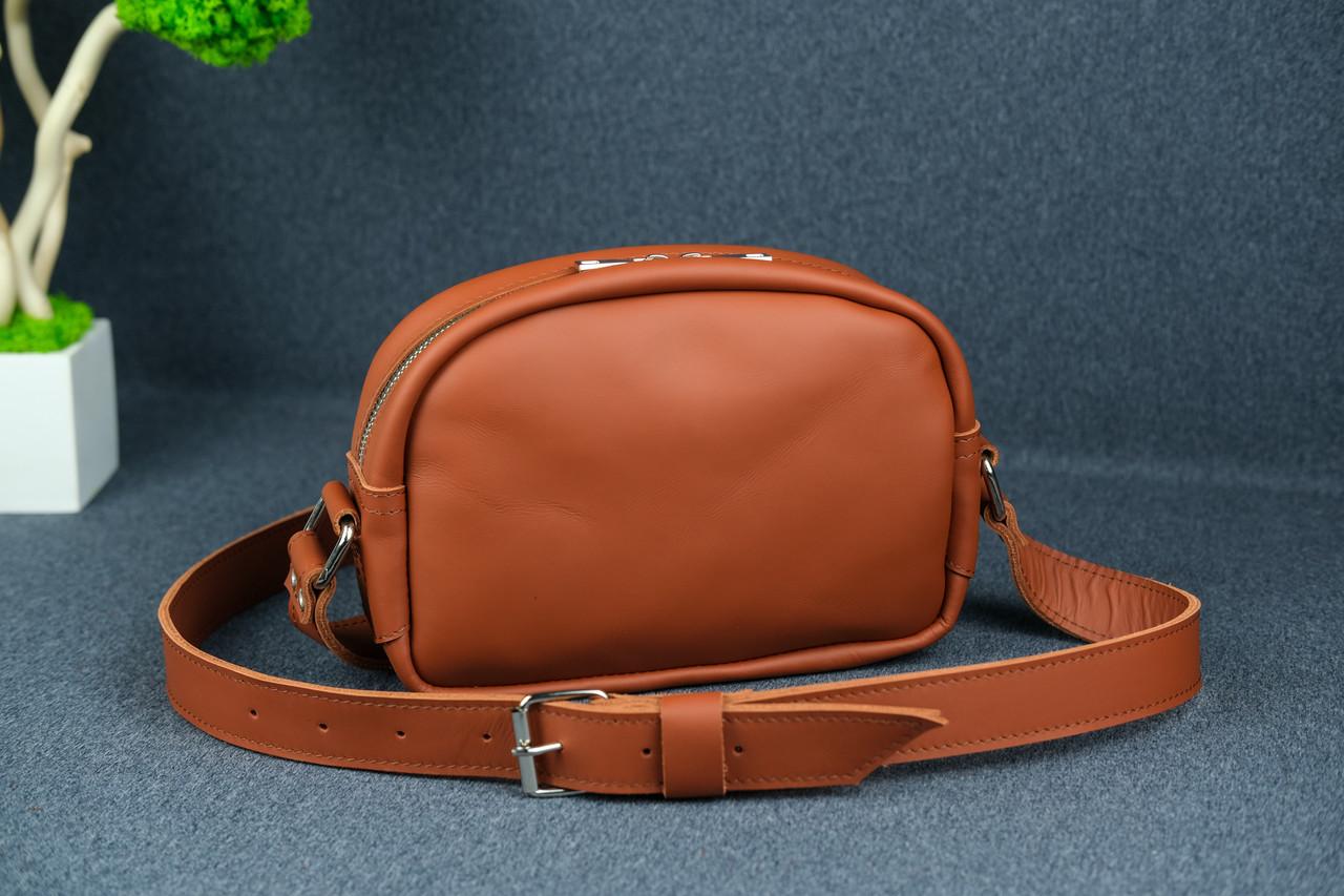 Сумка жіноча. Шкіряна сумочка Віола, Шкіра Grand, колір Коньяк