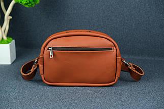 Сумка жіноча. Шкіряна сумочка Віола, Шкіра Grand, колір Коньяк, фото 2