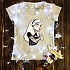 Женская футболка  с принтом - Золушка с татуировками