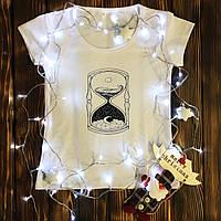 """Женская футболка  с принтом - """"День\Ночь"""""""