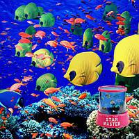 Ночник проектор / океан с рыбками (юсб шнур и адаптер 220 в комплекте)