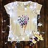 Женская футболка  с принтом - Букет цветов