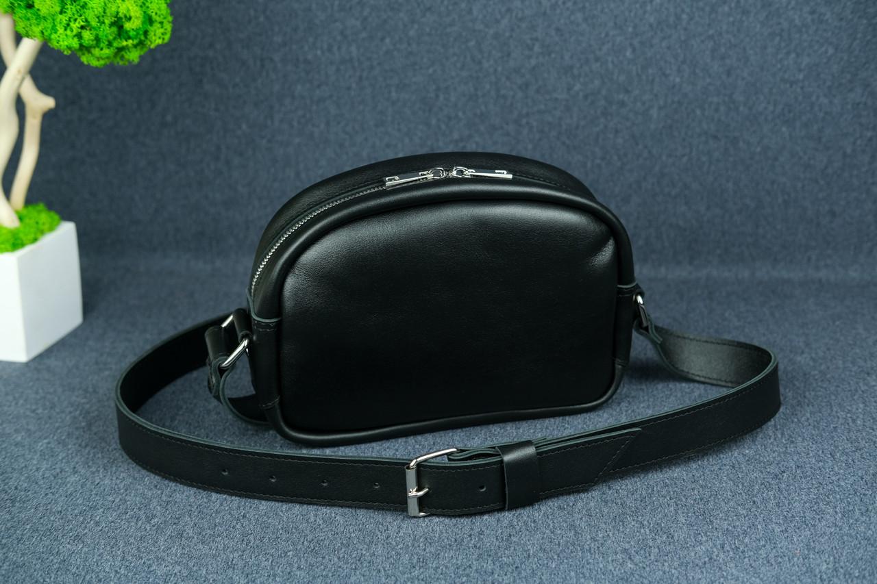 Сумка женская. Кожаная сумочка Виола, Кожа с лицевым покрытием, цвет Черный