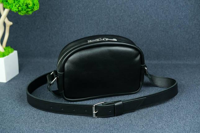 Сумка женская. Кожаная сумочка Виола, Кожа с лицевым покрытием, цвет Черный, фото 2