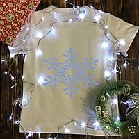 Чоловіча футболка з принтом - Сніжинка