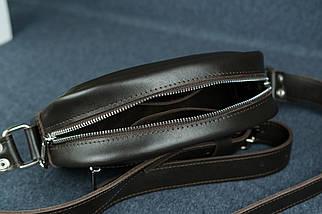 Сумка жіноча. Шкіряна сумочка Віола, Шкіра з лицьовим покриттям, колір Коричневий, фото 3