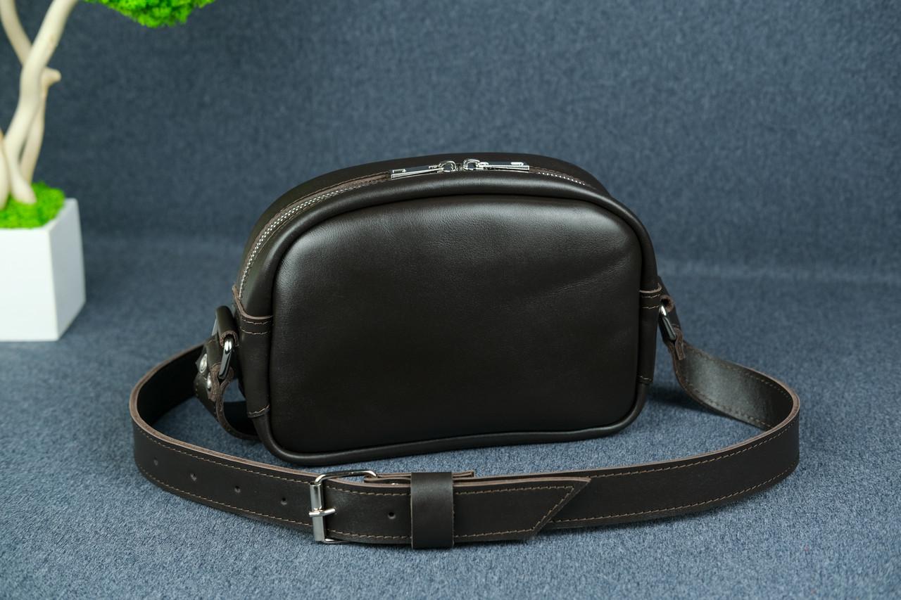 Сумка жіноча. Шкіряна сумочка Віола, Шкіра з лицьовим покриттям, колір Коричневий