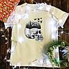 Чоловіча футболка з принтом - череп з лісом
