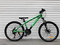 """Велосипед алюмінієвий гірський TopRider-680 24"""" салатовий, фото 1"""
