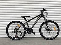 """Велосипед алюмінієвий гірський TopRider-680 24"""" біло-коричневий, фото 1"""