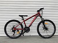 """Велосипед алюмінієвий гірський TopRider-680 24"""" золотистий, фото 1"""