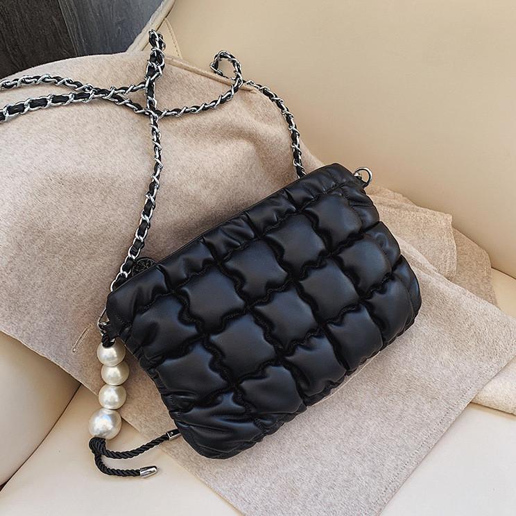 Мини сумка клатч женская, Мини сумка на плечо, сумка мягкая черная  AL-3721-10