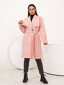 """Женское кашемировое пальто """"BILBAO"""" с поясом и карманами (большие размеры)"""