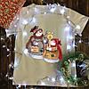 Чоловіча футболка з принтом - Сніговики смажать зефір