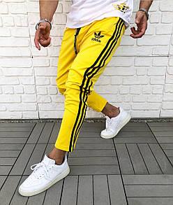 Брендові спортивні штани Adidas Yellow