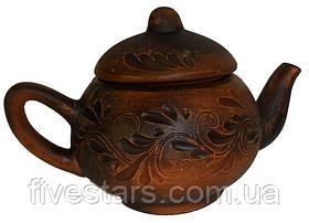 Чайник глиняный малый декор 300 мл