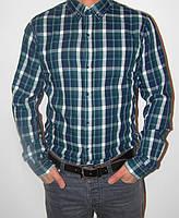 Стильная теплая  мужская рубашка  в клетку