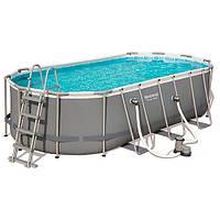 Каркасный бассейн Bestway 56710, 549х274х122 см, (фильтр-насос, лестница, подстилка, тент), фото 1