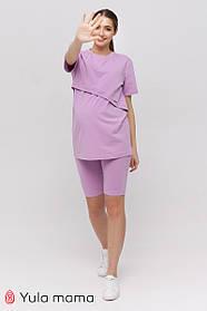 Летний костюм с велосипедками для беременных и кормящих ALEXA ST-21.012, цвет лаванда