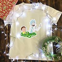 Чоловіча футболка з принтом - Рик і Морті