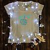 Женская футболка  с принтом - Счастье в новом году