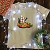 Чоловіча футболка з принтом - Різдвяний вінок