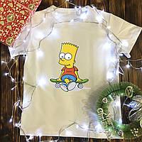 Мужская футболка с принтом - Барт Симпсон