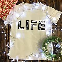 Чоловіча футболка з принтом - LIFE математика