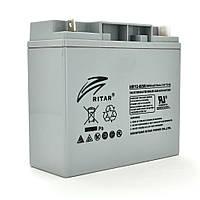 Аккумуляторная батарея AGM RITAR HR12-60W, Gray Case, 12V 17.0Ah  ( 181 х 77 х 167 (167 ) 4.80 kg Q4