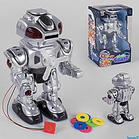 """Робот- трансформер UKA-A 0102-2 """"TK Group"""" ходит, стреляет дисками, свет, звук, украинская озвучка"""