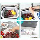 Дошка обробна 4 в 1, дошка обробна складна, миска дошка, дошка для кухні, дошка трансформер, фото 4