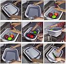 Дошка обробна 4 в 1, дошка обробна складна, миска дошка, дошка для кухні, дошка трансформер, фото 9