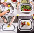 Дошка обробна 4 в 1, дошка обробна складна, миска дошка, дошка для кухні, дошка трансформер, фото 10
