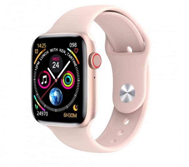Смарт часы умные Smart Watch W26+ Pro розовое золото
